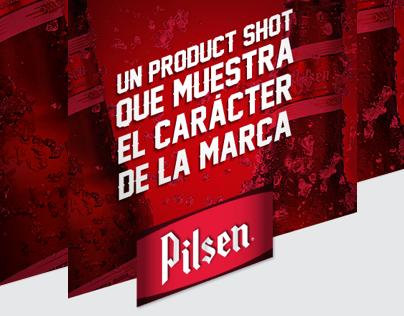 2014 Cerveza Pilsen. Un product shot con idea.