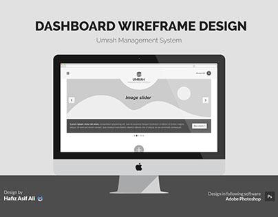 Wireframe Design for Umrah Management System