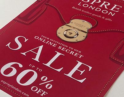 Osprey London Secret Sale Postcard