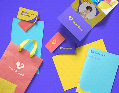 Heroo care brand design.