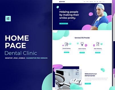 Dental Center - Elementor Pro Layout