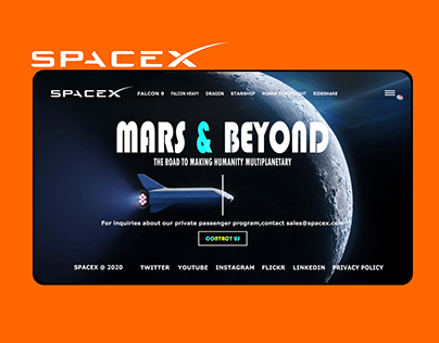 SPACEX WEBSITE REDESIGN CONCEPT