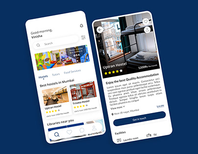 Student's App for finding Hostels, Tutors, Libraries