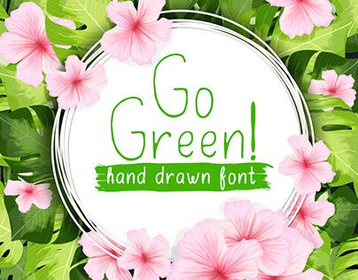 GoGreen handdrawn font