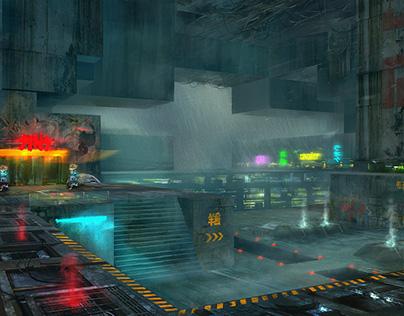 Cyber punk environment