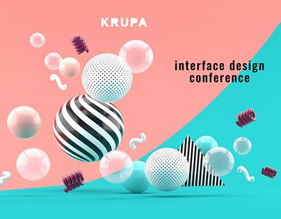 krupa 2019 — design conference. Concept web page.