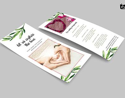 Free Flower Rack Card Design PSD Template