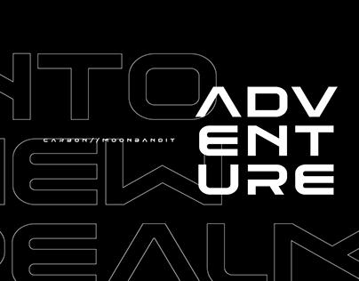 Carbon - sporty futuristic display font