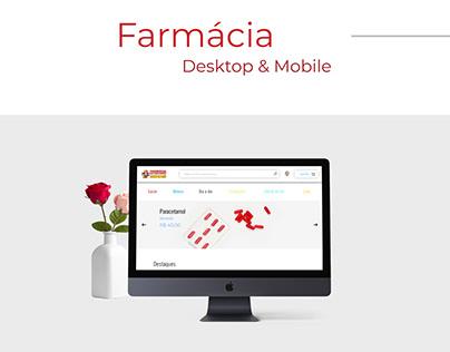 Website para uma farmácia.