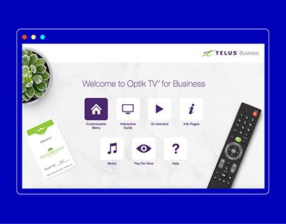 Telus Optik: TV Demo Interface