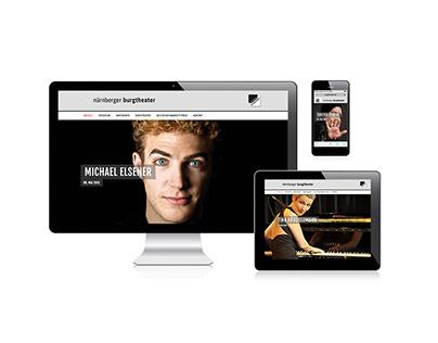 nuernberger burgtheater – Webdesign
