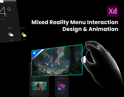 Mixed Reality Menu Interaction Design & Animation