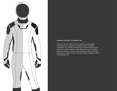 SpaceX Line Art Concept