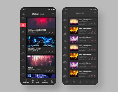 Event App UI/UX design Concept