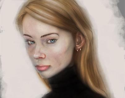 Portrait Study Digital Painting