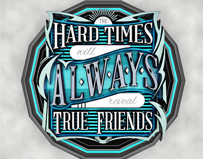 Hard Times 3D Typography