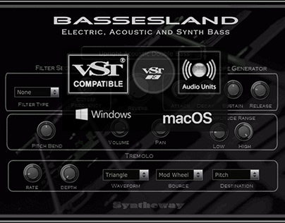 Bassesland Virtual Bass VST Software by Syntheway