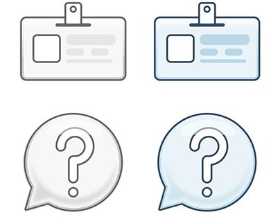 Authentication icons