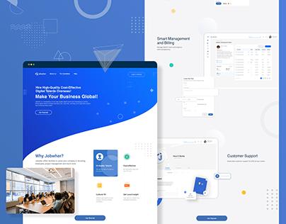Jobwher Landing Page Design
