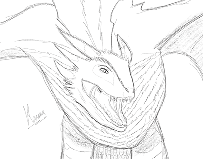Drogon sketch (game of throne)