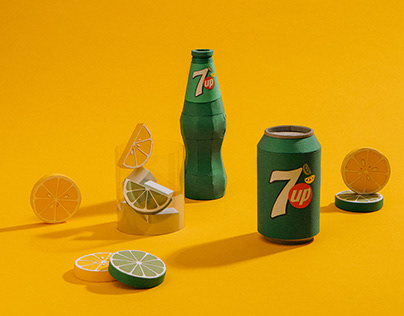 7UP_ Paper Art Still Life Chain Reaction