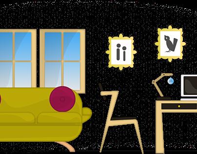 Interiérová ilustrácia