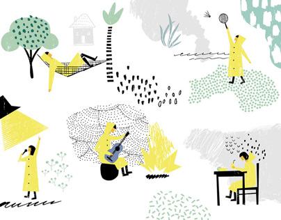 «Каникулы на маяке». Иллюстрации и анимация