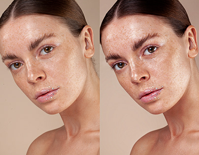 Retouching Glow Skin Using Frequency Separation