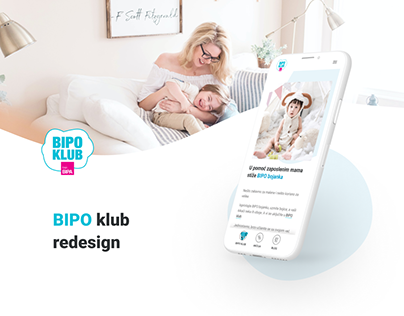 BIPO klub - Mobile-first website for new parents