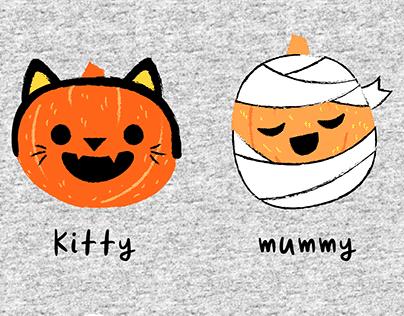Pumpkin Faces : Kids Apparel