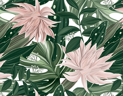 Botanical Oasis pattern collection. Textile design