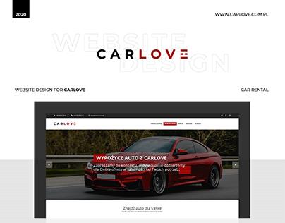 Website Design for CarLove