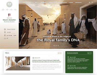 Intranet portal of Diriyah website
