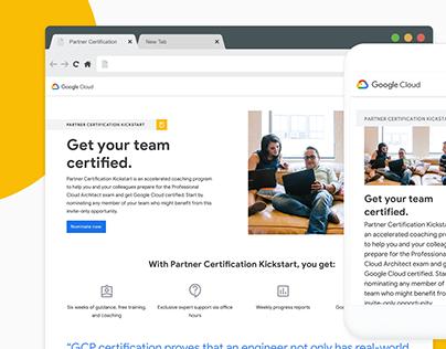 Google Cloud Partner Certification Kickstart