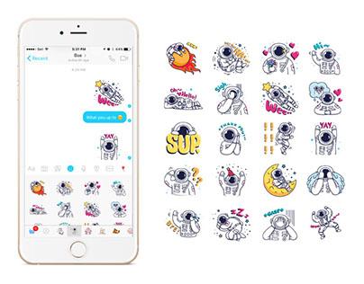 Facebook & Line Messenger Sticker Set - Cosmic Stranger