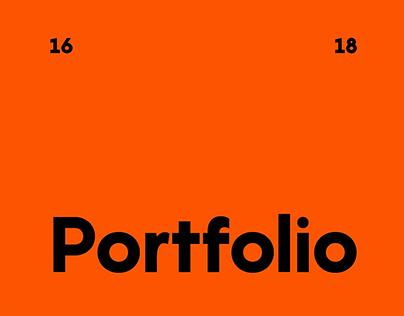 Portfolio / My works collection 2016-2018