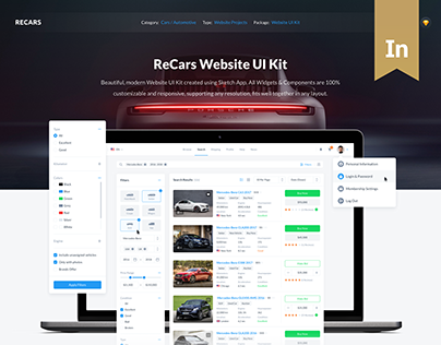 ReCars - Website UI Kit
