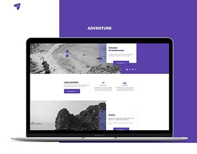 """Многостраничный сайт о путешествиях """"Adventure"""""""