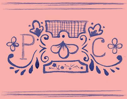 Pink China Gallery Branding