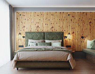 VIZprofistudio Hotel room in the Alps, Austria