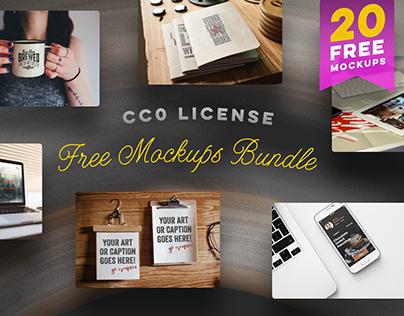 FREE 20 Mockups Bundle