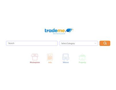 DailyUI #3 Landing Page - TradeMe Redesign