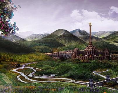 Fantasy World Matte Painting