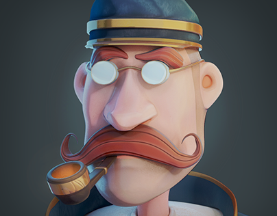 3D Character Design - Ceci n'est pas une pipe!
