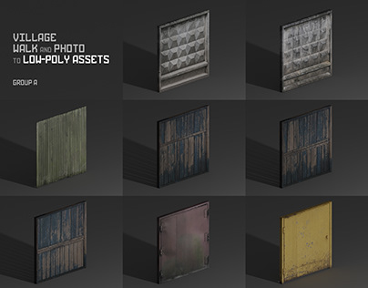 Realworld low-poly assets [group-a]