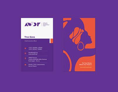 AWDF Business Card Design