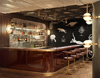 """CGI for """"Alice and Fifth"""" restaurant in Johannesburg"""