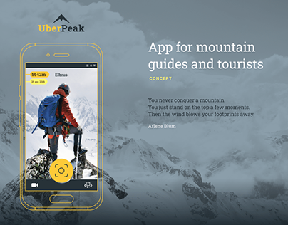 Mobile App Concept for mountain guides