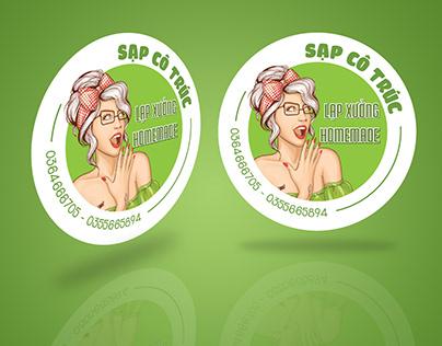 Sticker Design Sạp Cô Trúc Sticker