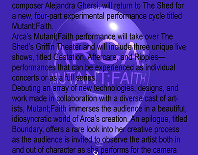 Arca @ The Shed Flyer